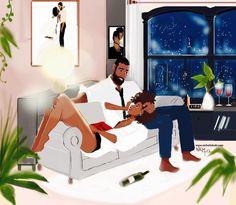 5 Top African Fashions for Men – Designer Fashion Tips Black Girl Art, Art Girl, African American Art, African Art, Books And Tea, Arte Black, Bd Art, Black Art Pictures, Natural Hair Art