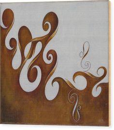 Yin And Yang, No. 1 - Wood Print
