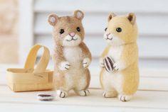 DIY Felted wool Hamster friends - bjl