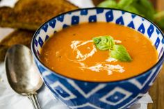Creamy Tomato Basil Soup -- this creamy tomato basil soup recipe is a total copycat of my favorite soup at First Watch! Perfect paired with a hot and fresh classic grilled cheese sandwich... | creamy tomato soup | tomato soup easy | tomato soup recipe | tomato basil soup | homemade tomato soup | find the recipe on unsophisticook.com #tomatosoup #tomatobasilsoup #souprecipes #easyrecipes #unsophisticook