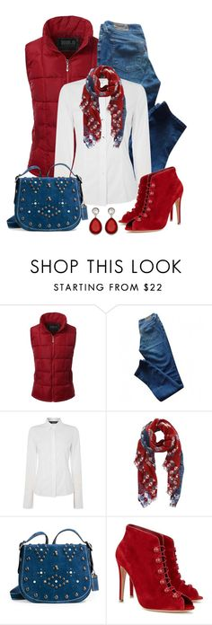 """""""Untitled #1180"""" by gallant81 ❤ liked on Polyvore featuring Doublju, Levi's, Oui, Inouitoosh, Coach 1941 and Gianvito Rossi"""