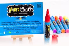 Gold Star Selections' Odorless Fun Chalk Chalk Markers, Safe For Toddlers