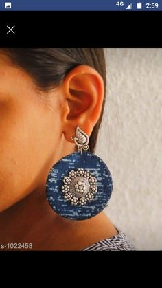 Diy Fabric Jewellery, Fabric Earrings, Paper Earrings, Bead Jewellery, Diy Earrings, Jewellery Workshop, Jewellery Making Courses, Jewelry Making, Polymer Clay Embroidery