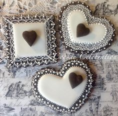 Chocolate Lace Hearts (Cookie Celebration)