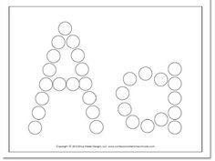 Alphabet Worksheets for Preschoolers   FREE Preschool Do-A-Dot worksheets   Confessions of a Homeschooler