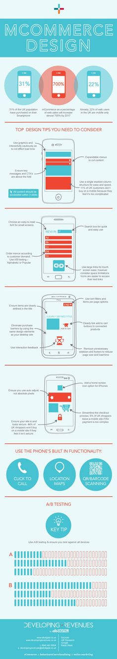 #mCommerce Design - hints on what to keep in mind in this infographic.