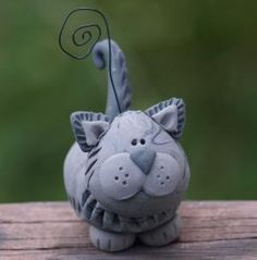 fimo cat - cute by tisha