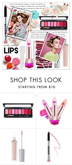"""So Sweet: Candy Colored lips: Candy Girl"" by leoll ❤ liked on Polyvore featuring beauty, ArtDeco, Buxom, Clinique and candylips"