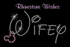 Disney Wifey With Dangling Mickey Rhinestone by RhinestoneWishes, $7.25