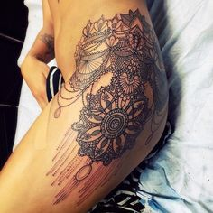 Image result for thigh tattoos