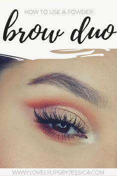 Brow duos will work for a wide variety of skin and brow shades because you will be able to use the two shades to mix your custom shade. Here is how I use mine. You can tailor it to fit your needs by adjusting where the color transition falls. I'll show you what I mean!