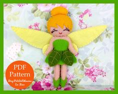 A personal favorite from my Etsy shop https://www.etsy.com/listing/253546271/tinker-bell-felt-doll-felt-pattern-pdf