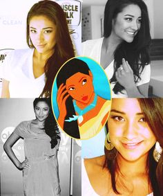 Shay Mitchell as Pocahontas, Disney Females Live Action Dream Cast.