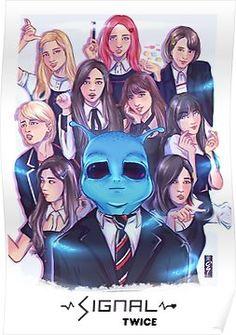 'Signal - Twice' Poster by roogomesART Nayeon, Kpop Fanart, Kpop Girl Groups, Kpop Girls, K Pop, Signal Twice, Kpop Posters, Twice Album, Warner Music