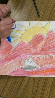 3rd grade art masterpiece inspired by H. W. Hansen lesson.