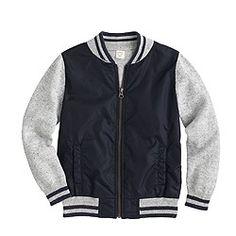 Boys' cotton baseball sweater-jacket