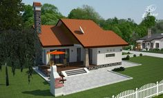 case-frumoase-beautiful-house-plans-6 Beautiful House Plans, Beautiful Homes, Cottage Style Homes, Small House Design, Design Case, Home Fashion, Cozy House, My Dream Home, Shed