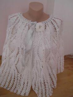 SNOW WHITE shawl shrug lace shawl Bridal by redrosewholesaler, $64.50