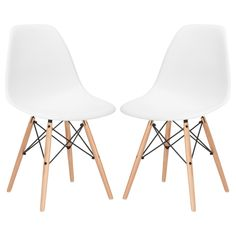 Set of 4 - Eames Style Vortex Side Chair