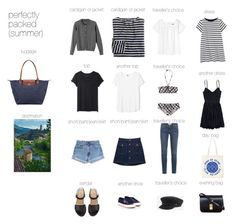 """""""Perfectly packed : South of France"""" by lesdessouschics ❤ liked on Polyvore"""