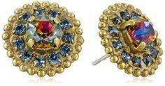 Sorrelli Aurora Sky www.teelieturner.com Accented Round Crystal Dark Multi-Post Stud Earrings $41.60 #sparkle