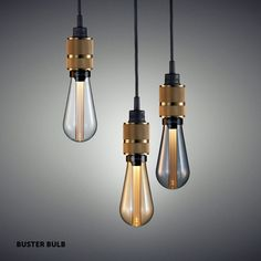 Buster and Punch buster and punch+hooked-3-0-nude A chandelier made up of three light pendants with their own solid brass hooks. The hooks are housed in a single rubber ceiling rose, allowing the c…