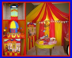 Whimsy & Wise Events: Wisely Planned Birthdays: Come One, Come All! Circus Carnival Party, Circus Theme Party, Carnival Birthday Parties, Carnival Themes, Circus Birthday, Birthday Fun, Birthday Party Themes, Birthday Ideas, Circus Tents