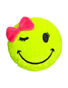 Smiley Face Pillow | Sleeping Bags, Pillows & Blankets | Room Accessories | Shop Justice