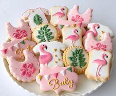 Flamingo themed baby shower #missbiscuit #cookiedecoratingshop #cookiedecoratingstudio #seddon #innerwestmelbourne #cookiesforsale #babyshower #flamingo #flamingotheme