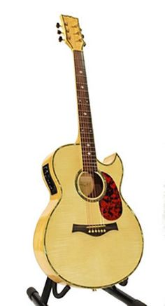 ACOUSTIC-ELECTRIC GUITAR-BLONDE-MOTHER OF PEARL