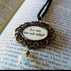 'Will you forever be mine?' in the Elvish language from LOTR. I want someone to give me this someday. Cutest thing.