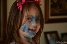 "Hilary, painting herself as ""Vampirina"""