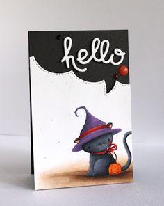Alice Wertz: Alice's {Little} Wonderland – : Jolly & Midnight - 5/22/15.  (Purple Onion Design stamp: Midnight. Paper Smooches dies: Hello Words.  MFT dies: Stitched Speech Bubbles)