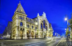 Great Market Hall, Fövám Square Budapest, Hungary, Europe Architecture Old, Amazing Architecture, Night Street, Budapest City, Visit Budapest, Capital Of Hungary, Public, Modern Architects, Central Europe