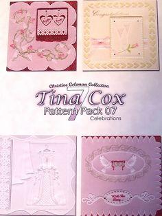 PATTERN PACK 7 - CELEBRATIONS BY TINA COX    'Celebrations' pattern pack designed by Tina Cox.