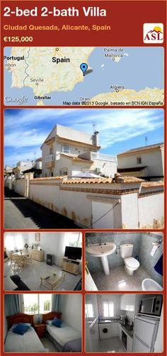 2-bed 2-bath Villa in Ciudad Quesada, Alicante, Spain ►€125,000 #PropertyForSaleInSpain