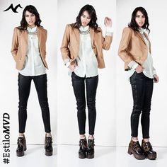 #EstiloMvd Look para ir a trabajar! Blazer y Camisa Gap, Pantalon Beat, Zapatos Garnie y Collar Colours in Fashion
