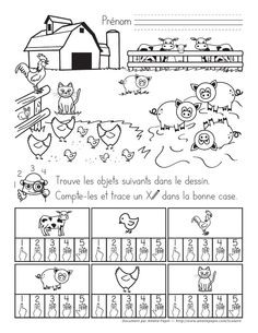 Learning French For Kids, Teaching French, Kids Learning, Farm Animal Crafts, Animal Projects, Teaching Schools, Teaching Math, Animal Activities, Toddler Activities
