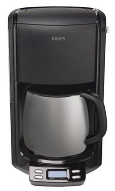 double-walled stainless-steel coffee maker with water reservoir vacuum thermal carafe; programmable timer to flavor setting; pause-and-serve function for pouring a cup midbrew; Thermal Coffee Maker, Drip Coffee Maker, Stainless Steel Coffee Maker, Coffee Machine, Control Panel, Carafe, Brewing, Kitchen Appliances, Canning