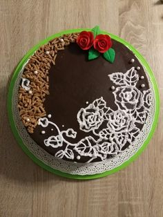 Hungarian cake with roses