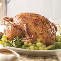 Herb-Roasted Turkey I made this turkey 2 years ago for Thanksgiving dinner and it was absolutely delicious!! Tender, juicy, and full of fresh herb flavor!!!