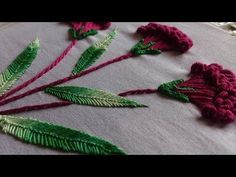 Hand embroidery designs. Embroidery stitches tutorial. Flower stitch. - YouTube
