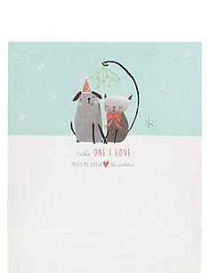 Animal Friends at Christmas Card