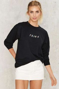 Petals and Peacocks Fries Sweatshirt | Shop Clothes at Nasty Gal!