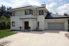 elewacja Double Storey House, Moise, Dream House Exterior, Fence Design, Modern House Design, Home Fashion, Exterior Design, Future House, House Plans