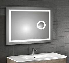 NEW Backlit LED Bathroom Mirror IR Sensor Magnifier Back Lit Lighting