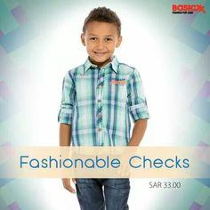 Add the best of check #shirts to your little one's #wardrobe. Buy this check shirt for him.  #Basicxx #BasicxxOnline #Riyadh #Jeddah #Dhahran #InspirationFulfilled #BasicxxKids