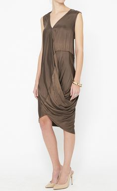 Zero + Maria Cornejo Brown Dress | $250