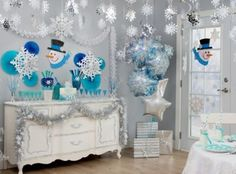 Snowflakes and Snowman Party Ideas