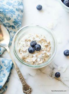 blueberry chia overnight oats | flavorthemoments.com